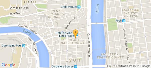 Ostéopathe Lyon, 1er arrondissement ? Cliquez sur la carte pour en voir d'autres